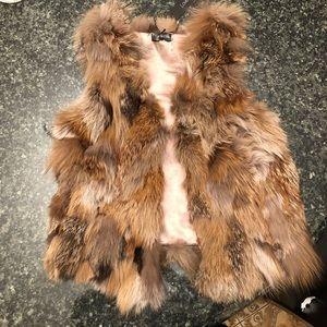Love Token 100% fox fur vest (BRAND NEW)
